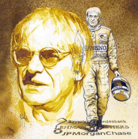 Bernie Ecclestone par Pastis